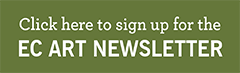 Green square with words sign up for newsletter