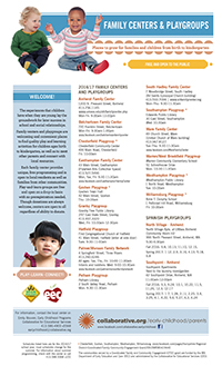 Thumbnail of flyer for Family Centers and Playgroups