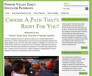 PERC Early Educator Pathways website image