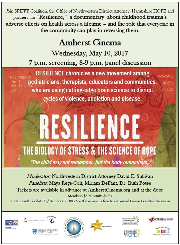 Resilience film event flyer