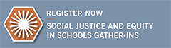 Social Justice Gather-Ins graphic - Register Now
