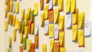 Photo of sticky notes