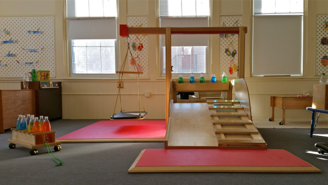image of indoor play structure in a preschool