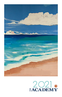 thumbnail image of the cover of the 2021 HEC Academy Graduation Program - image is a painting of the ocean and beach