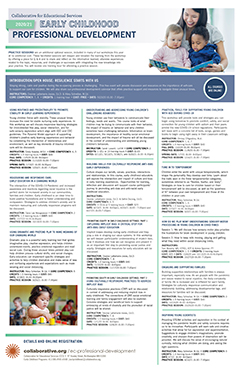 thumbnail image of Early Childhood PD flyer 2020/21