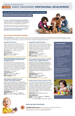 thumbnail image of Early Childhood PD flyer 2021/22