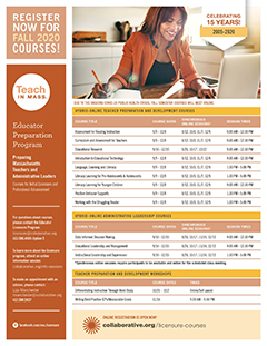 thumbnail of Licensure Course Catalog Fall 2020