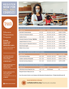 thumbnail image of Fall 2021 Licensure Course Calendar