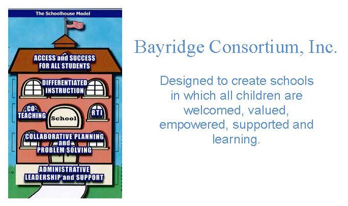Bayridge Consortium logo with an image of a school house