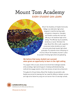thumbnail of the cover of the Mount Tom Academy brochure
