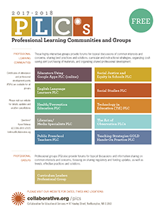 Thumbnail image of the Fall2017 PLC flyer