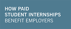 "blue rectangle with text ""how paid internships benefit employers"""