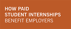 "orange block with text ""How Paid Students Internships Benefit Employers"""