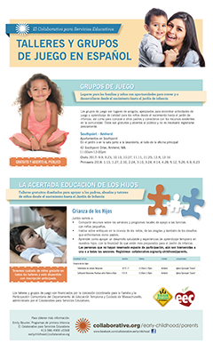 Thumbnail of Spanish Parent Programs flyer