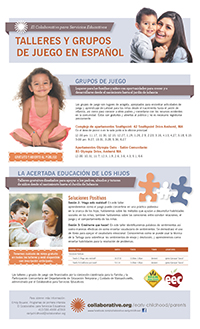 thumbnail of the Spanish Early Childhood Parent Program offerings flyer