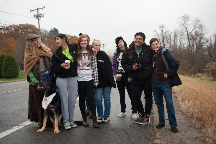 HEC Academy Students walking with Monty's March, fall 2014