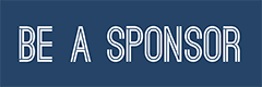 "navy blue rectangle with text ""be a sponsor"""