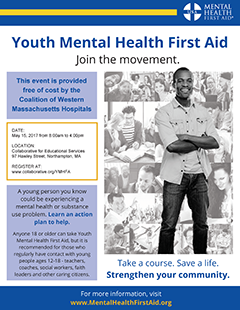 Youth Mental Health First Aid event flyer