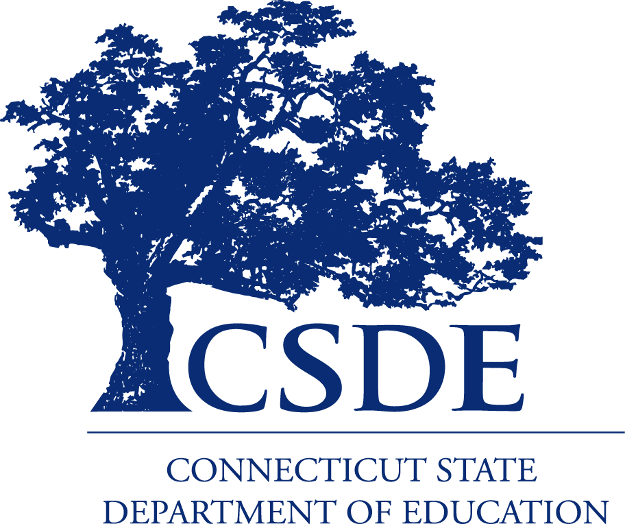 CT State Department of Education logo - blue tree image with CSDE underneath